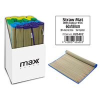 MAX Brand Straw Mat Colored Trim 60x180cm PDQ