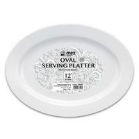 "Plastic Oval Serving Platter 203x304mm (8x12"")"