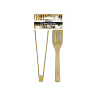 Max Brand  Bamboo  Kitchen Utensils 30cm 2's