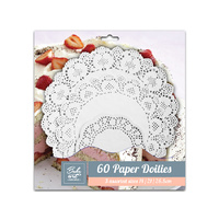 60  Paper Doilies Set Assorted Size 14/21/26.5cm