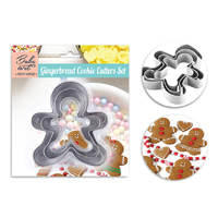 Stainless Steel Cookie Cutter Gingerbreadman 3pcs