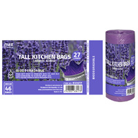 MC Biodegradable Kitchen Tidy Bag S Top M 27L  11 Micron (510x650mm)  x46's Lavender Scented