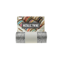 Silver  Metalic Twine 1mm(11ply)x 50m