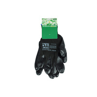 All Purpose Gloves Natural Nitrile Coated 13G Nylon Liner BLACK