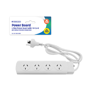 4 Way Power Board with 1 M Cord