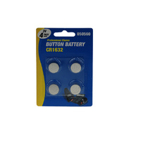 Button Battery CR1632 4's