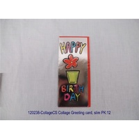 Collage Greeting card slim
