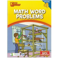 Kenny Kangaroo Math Word Problems Grade 4 32pg