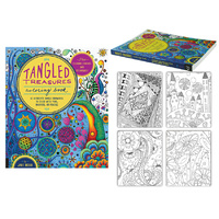 Tangled Treasures Coloring Book 128pgs by Jane Monk