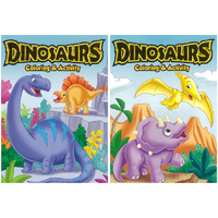 Coloring Book Dinosaurs  Asst 96pp