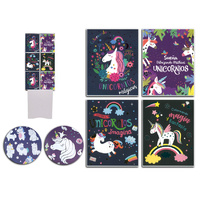 Children Coloring Books Unicorns with Foil 4 Assorted 32pgs