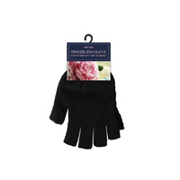 Women Fingerless Glove Black