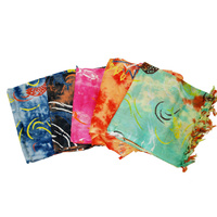 Rayon Printed Sarongs (Lava Lava) w/Fringes 183x114CM