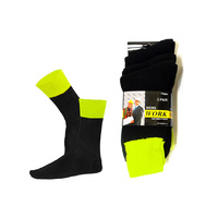 High Visibility Work Socks Black 3pk