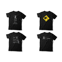 T-Shirt Cricket Themes Black