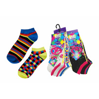 Women Mix n Match Low Cut Socks 6prs 11-13#