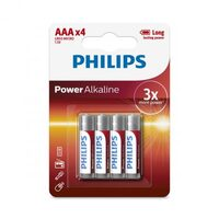 ALKALINE  Philips Battery  4AAA