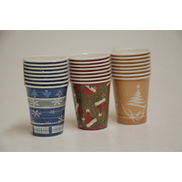 8pc Christmas Paper Cup 260ml
