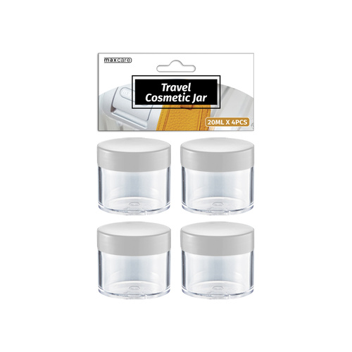 20ml Travel Cosmetic Jar Plastic 4pcs