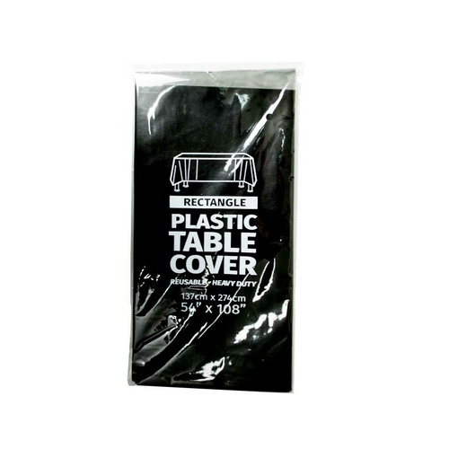 Plastic Table Cloth 137x274cm  Black
