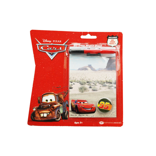 "Cars Magnetic Dry Erase Board W/Marker 4""x6"""